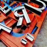 gráfica de letras em caixa alta Vila Albertina