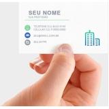 impressão digital cartão de visita preço Parque São Rafael